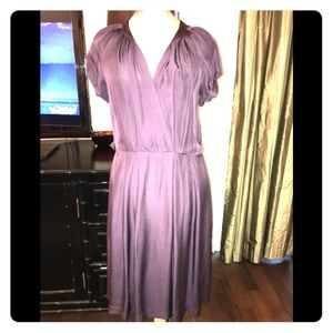 NWT silk eggplant banana republic midi dress